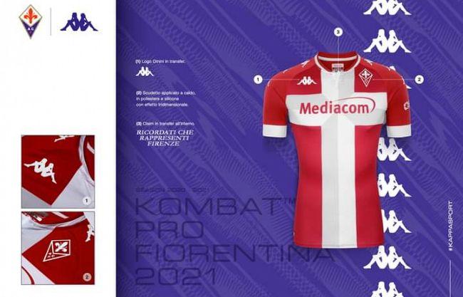 Fiorentina, la terza maglia è un omaggio a Firenze